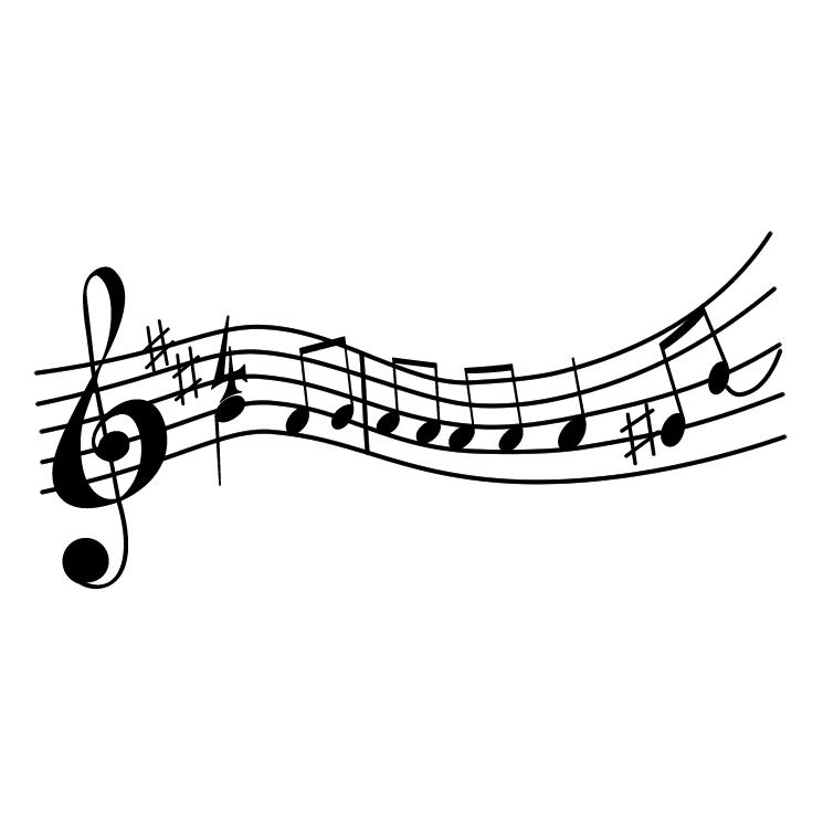 free vector Pauta musica