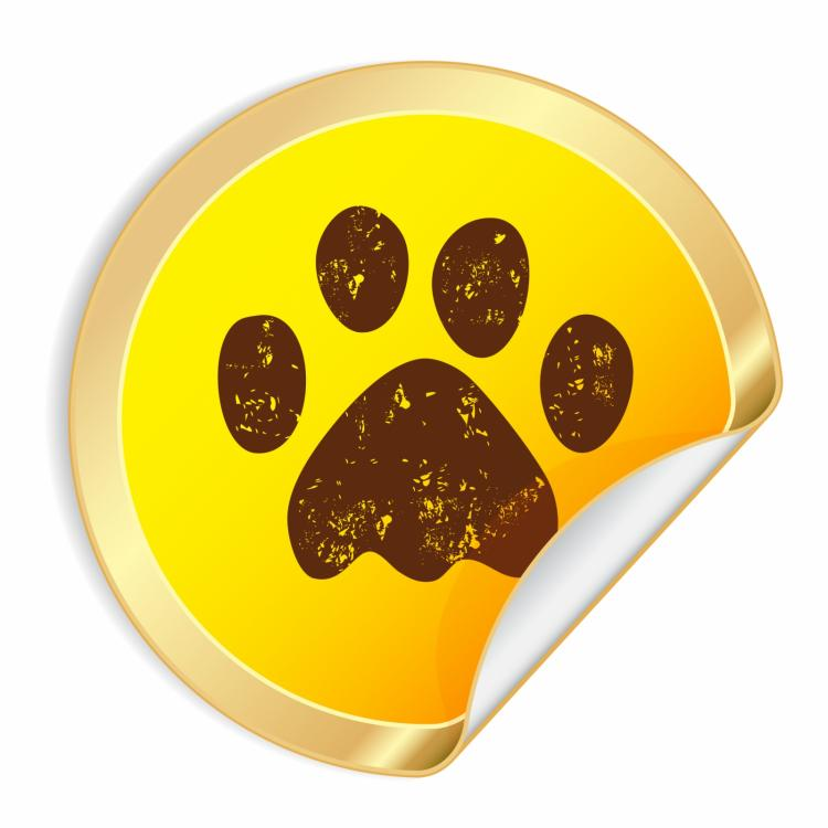 free vector Paw sticky