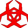 free vector Pbcrichton Malware Hazard Symbol Red clip art