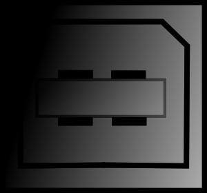 free vector Pc Connectors Usb Printer clip art
