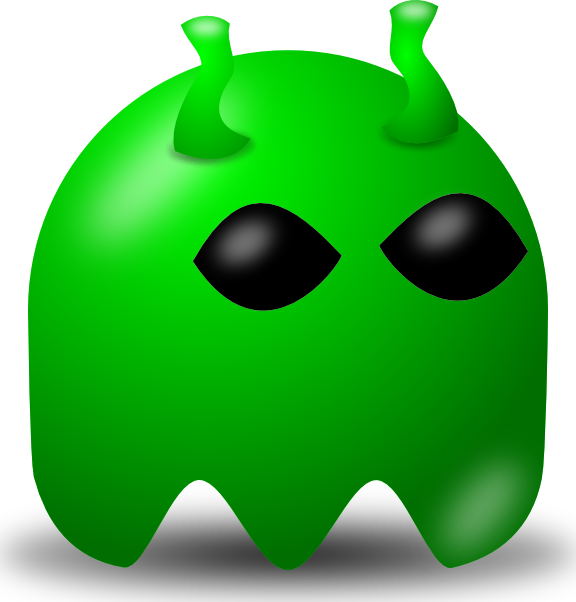 free vector Pcman Game Baddie Alien clip art