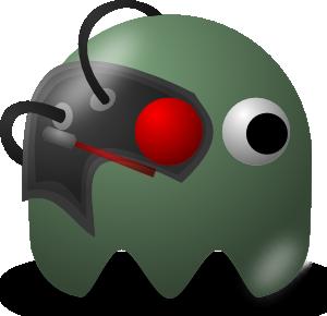 free vector Pcman Game Baddie Borg clip art