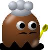 free vector Pcman Game Baddie Chef clip art