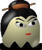 free vector Pcman  Game Baddie Geisha clip art