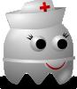 free vector Pcman Game Baddie Nurse clip art