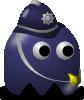 free vector Pcman  Game Baddie Policeman clip art