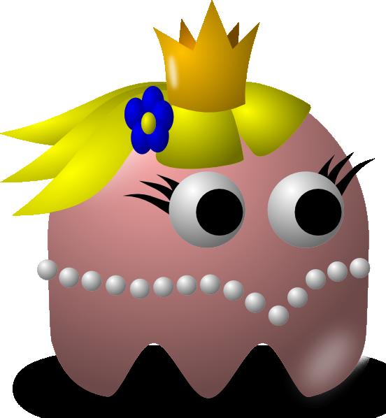 free vector Pcman  Game Baddie Princess clip art