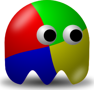 free vector Pcman Game Ghost clip art