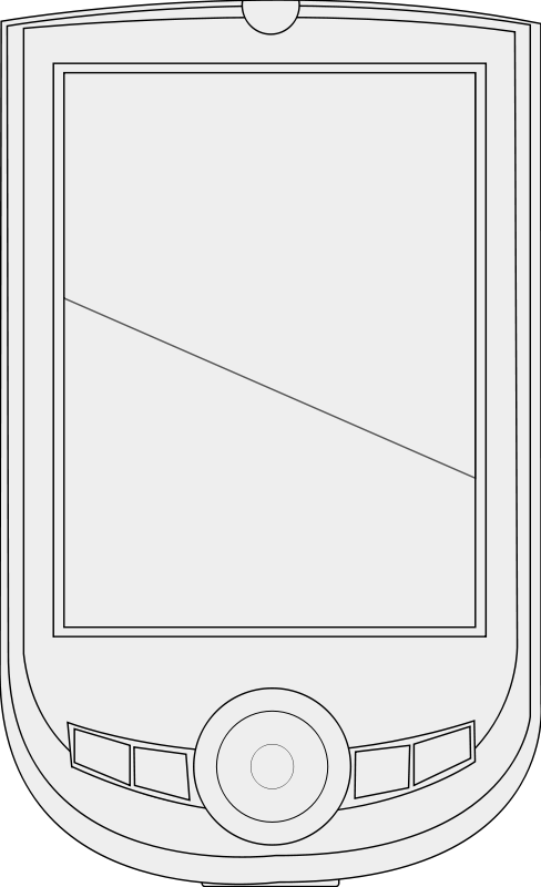 free vector PDA line art