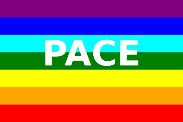 free vector Peace Flag (italian) clip art