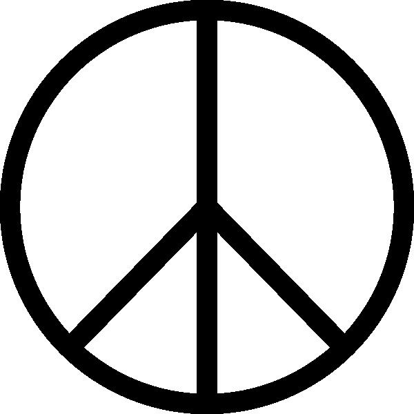 free vector Peace Symbol clip art 119807