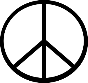 free vector Peace Symbol clip art