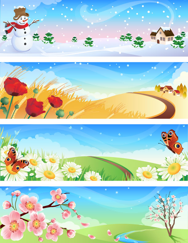 free vector Peach blossom snow man rose butterfly