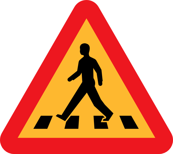 free vector Pedestrian Crossing Sign clip art
