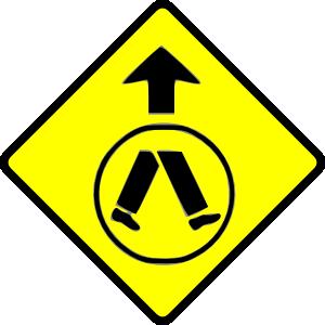 free vector Pedestrians Crossing clip art