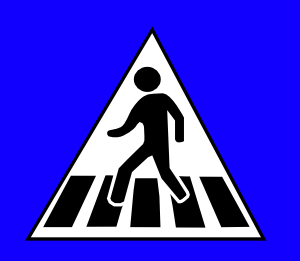 free vector Peds Xing Sign clip art