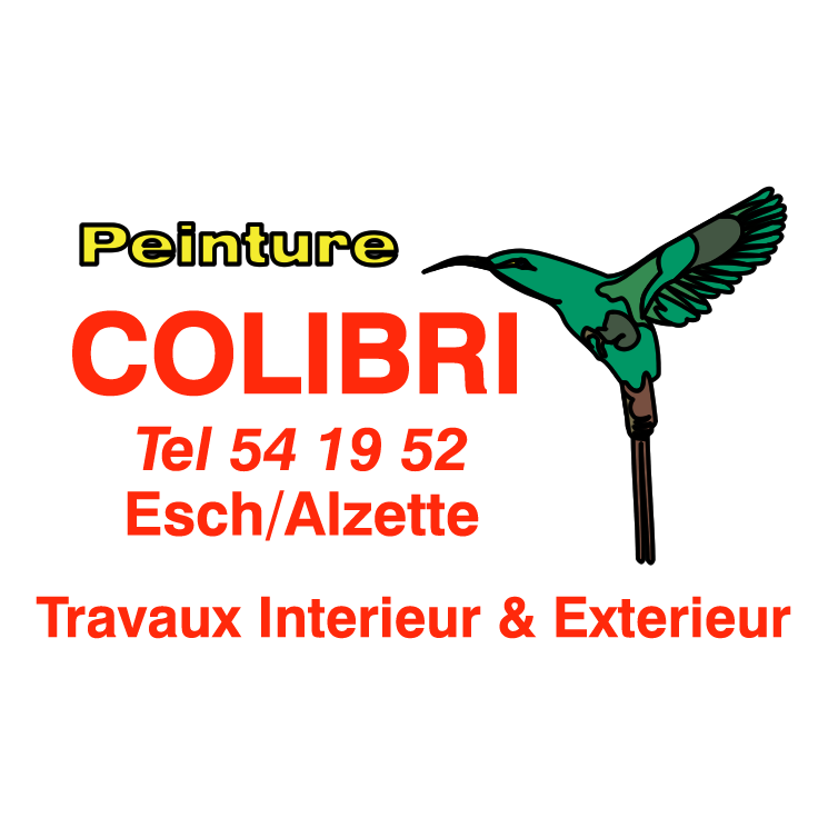 free vector Peinutre colibri