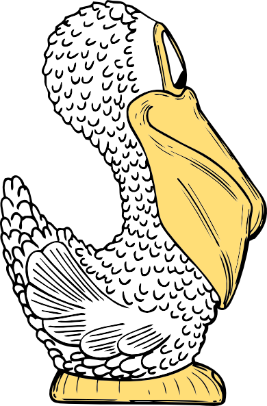 free vector Pelican Side View clip art