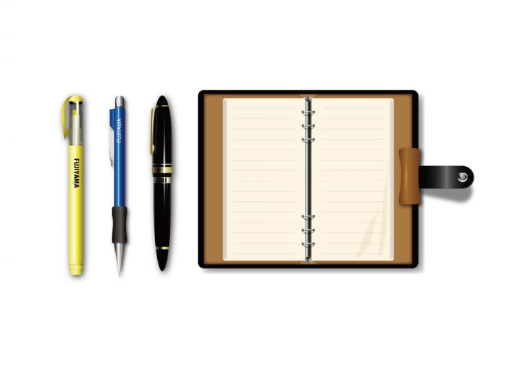free vector Pen and notebook vector