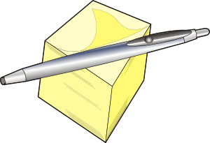 free vector Pen And Pad clip art