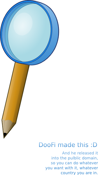 free vector Pencil With A Magnifying Lens clip art