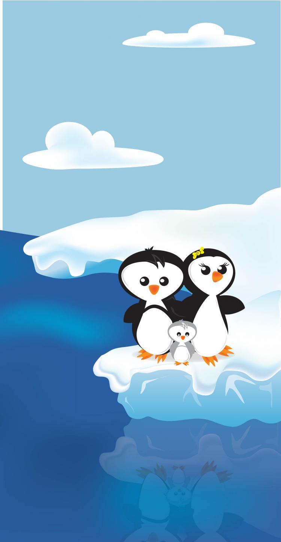 free vector Penguin Family