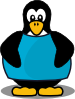 free vector Penguin With A Shirt clip art