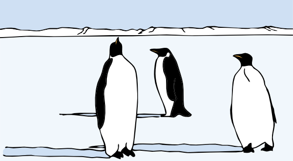 free vector Penguins clip art