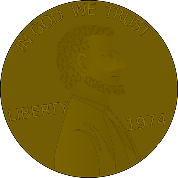 free vector Penny Front clip art