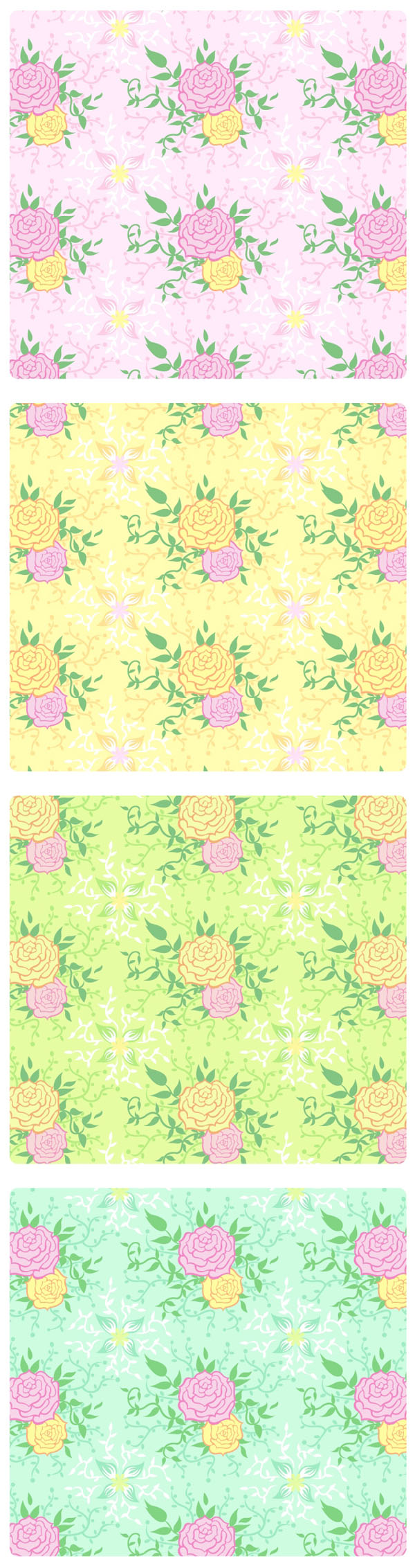 free vector Peony tiled background vector case