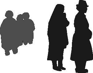 free vector People Attending Burrial clip art