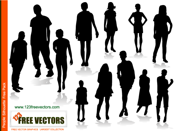 free vector People Silhouettes Free Vector