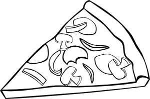 free vector Pepperoni Pizza Slice (b And W) clip art