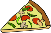 free vector Pepperoni Pizza Slice clip art