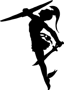 free vector Perseus Silhouette clip art