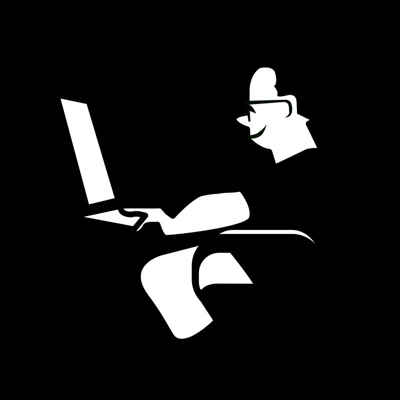 free vector Personnage_ordinateur