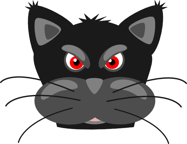 free vector Peterm Angry Black Panther clip art