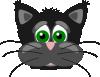 free vector Peterm Sad Cat clip art