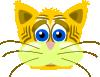free vector Peterm Sad Tiger Cat clip art