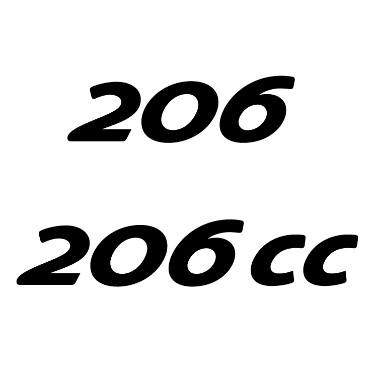 free vector Peugeot 206