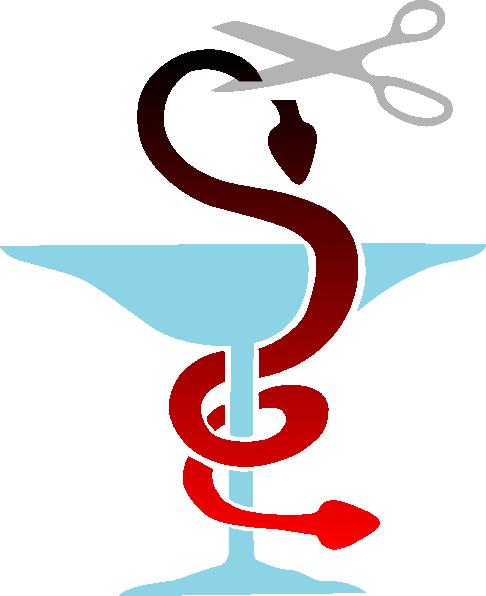 free vector Pharma Double Headed Snake Cut clip art