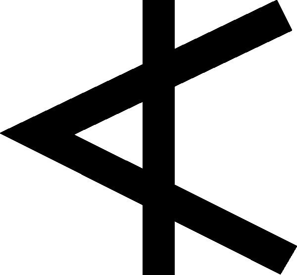 free vector Phoenician Aleph clip art
