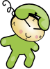 free vector Phone Clock Character clip art