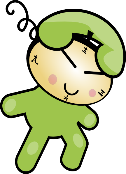 free vector Phone Clock Character clip art
