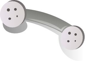 free vector Phone Handset Gray clip art