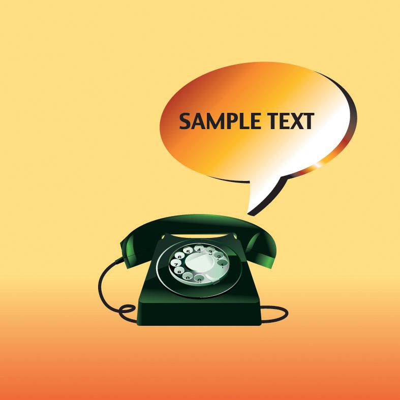 free vector Phone theme vector