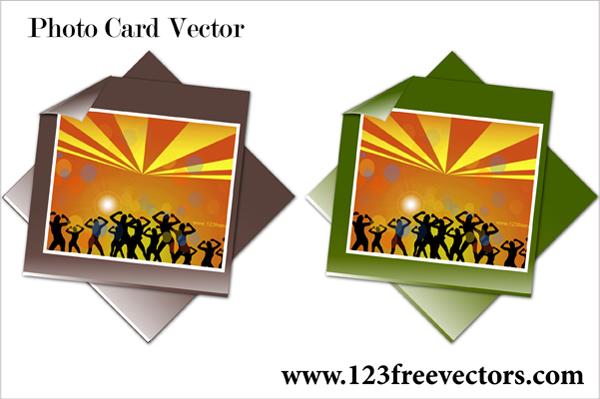 free vector Photo Card Vector