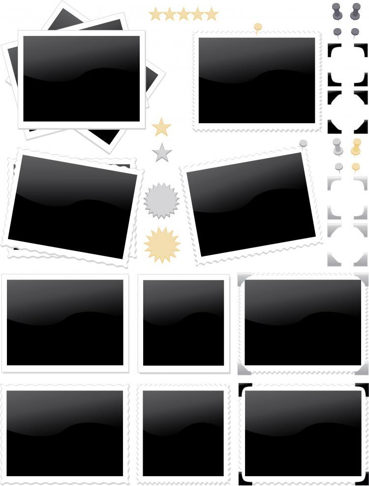 free vector Photo stamp icon vector