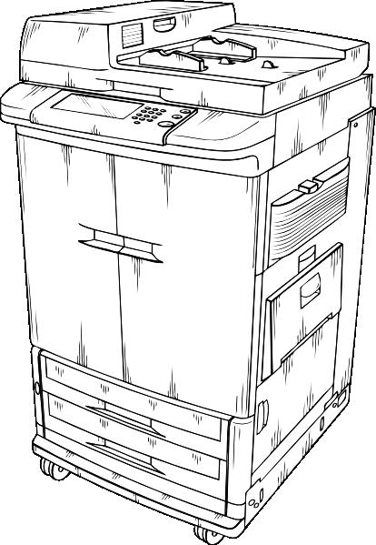 free vector Photocopier clip art
