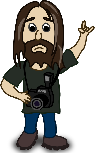 free vector Photographer  clip art